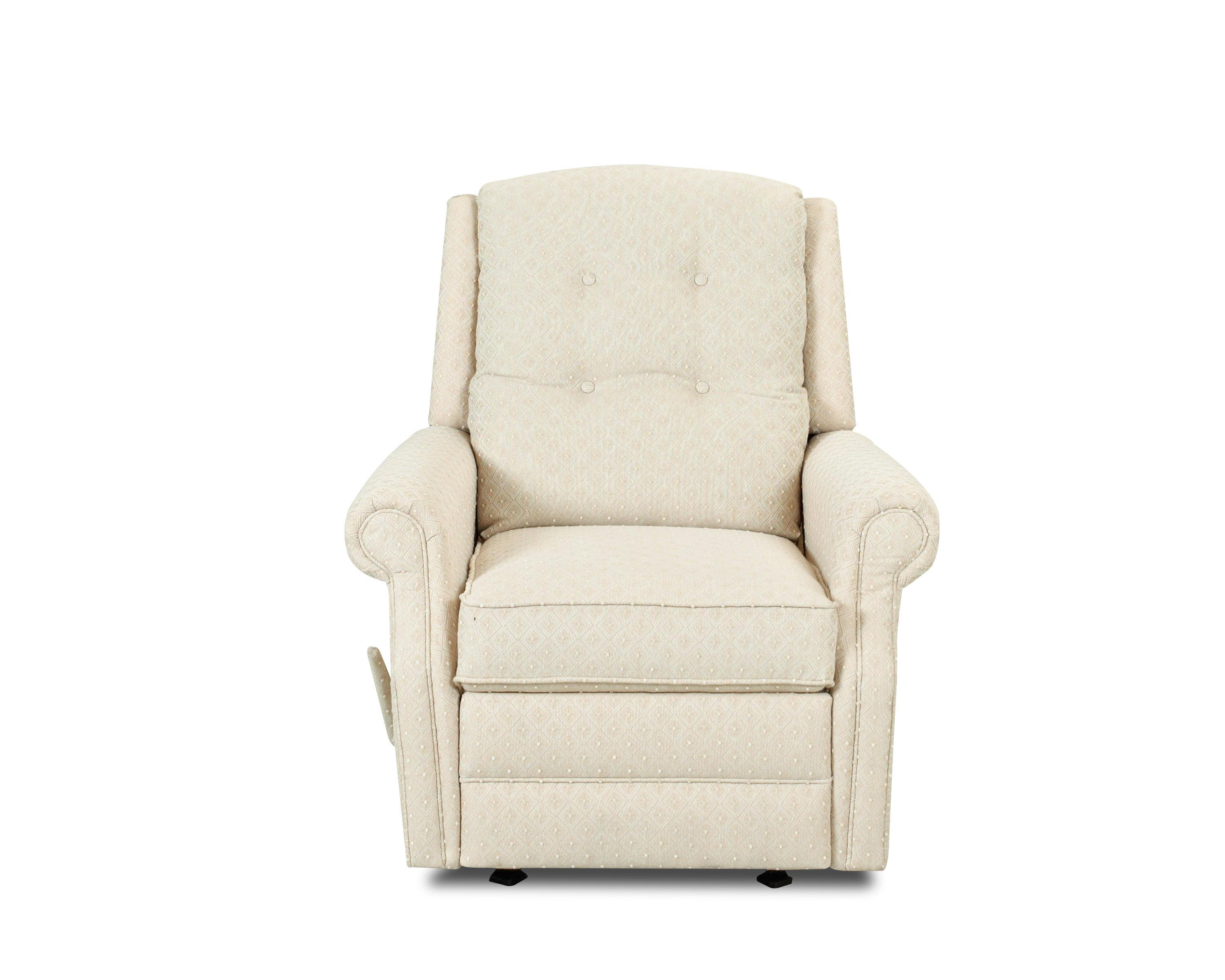 glider recliner chair cream upholstered dining chairs uk transitional swivel gliding reclining with button tufting by