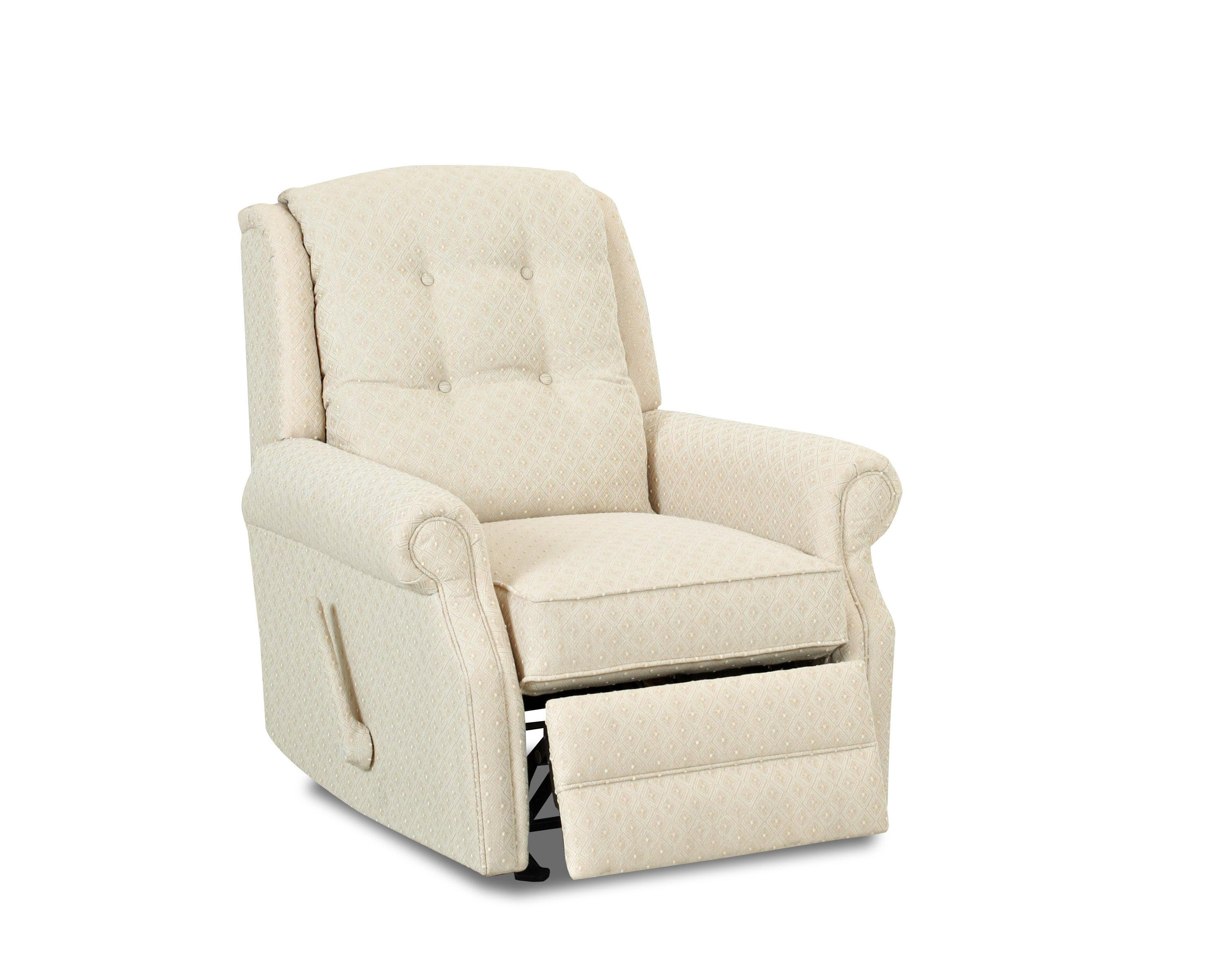 klaussner rocking chair chairpro sofia transitional manual swivel reclining with button tufting by | wolf and ...