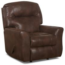 Casual Leather Reclining Rocking Chair With Attached