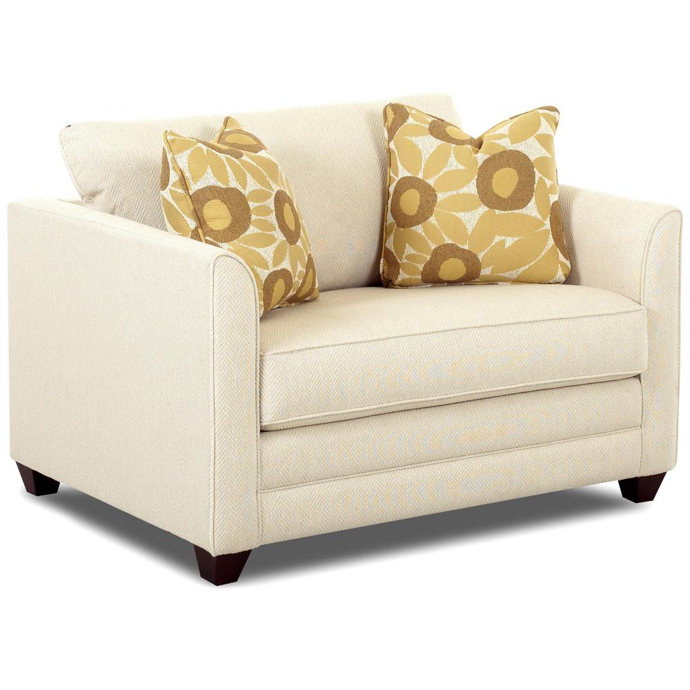 Upholstered Chair Sleeper with a Twin Mattress by