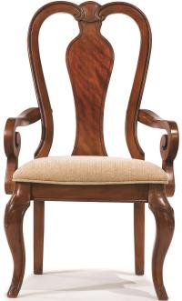 Queen Anne Arm Chair with Upholstered Seat by Legacy ...