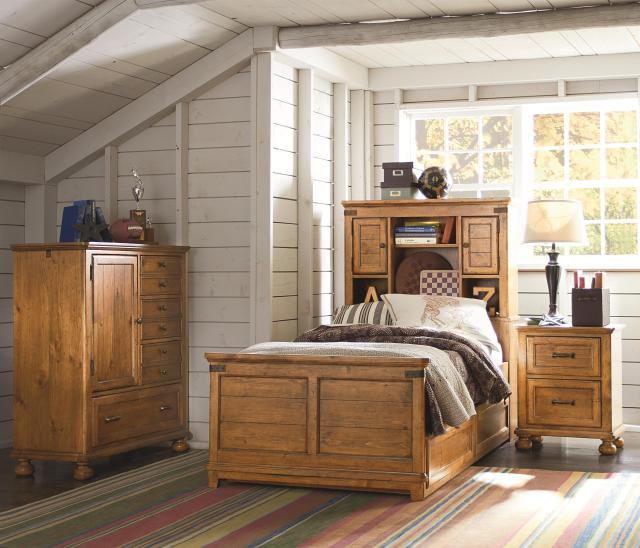 Twin Bookcase Bed with Hidden partment and Outlet by Legacy