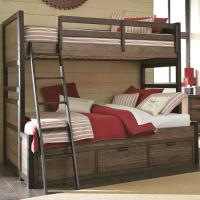 Twin Over Full Bunk Bed with 3 Storage Drawers by Legacy