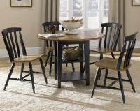 Five Piece Drop Leaf Table and Slat Back Chairs Set by ...