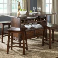 Center Island Pub Table by Liberty Furniture | Wolf and ...