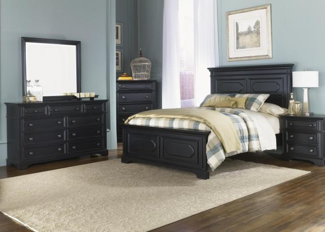 King Panel Headboard with Raised Panels and Moulding by Liberty