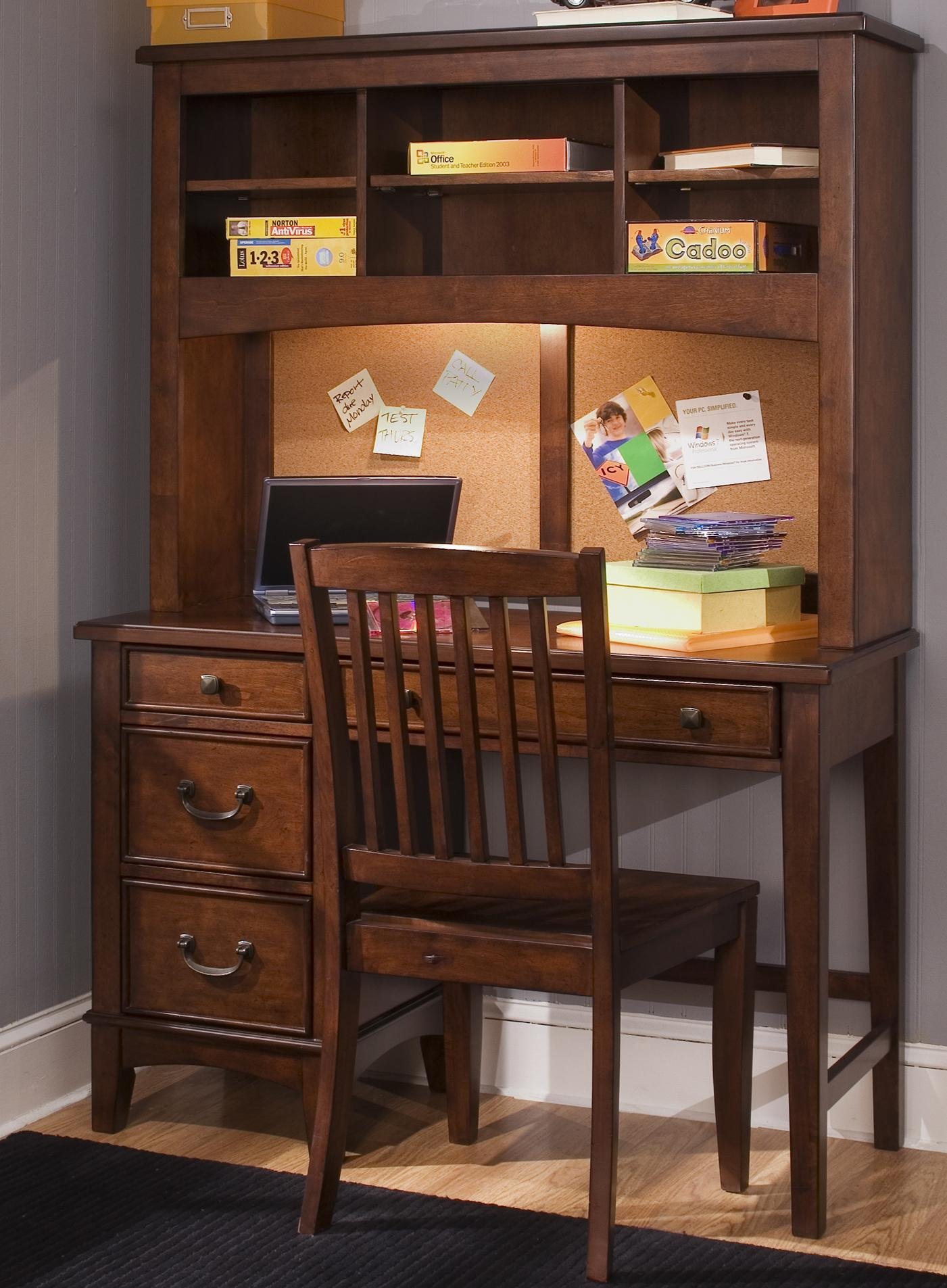 Single Pedestal Student Desk with Hutch by Liberty