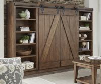 Entertainment Center with Piers and Sliding Barn Doors by ...