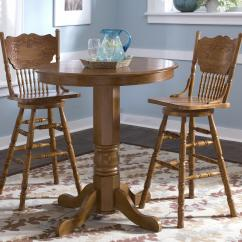 Round Oak Table And Chairs Big Bamboo Circle Chair Pub By Liberty Furniture Wolf Gardiner
