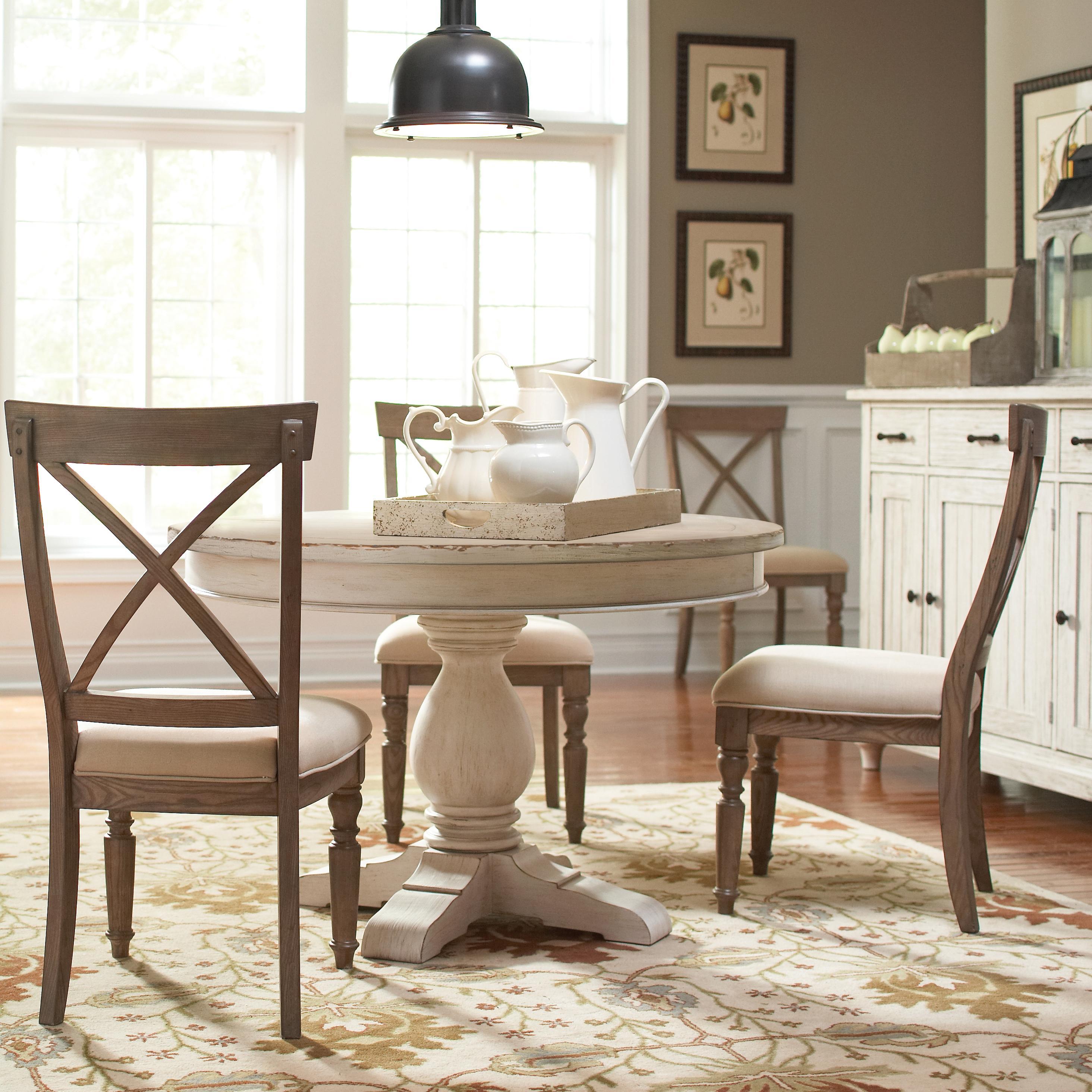 4 Piece Round Pedestal Dining Set by Riverside Furniture