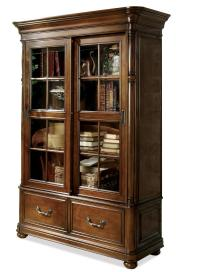 Double Sliding Glass Door Bookcase by Riverside Furniture ...