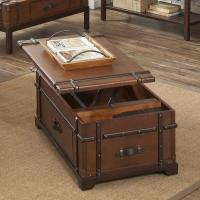 Steamer Trunk Lift Top Cocktail Table by Riverside ...