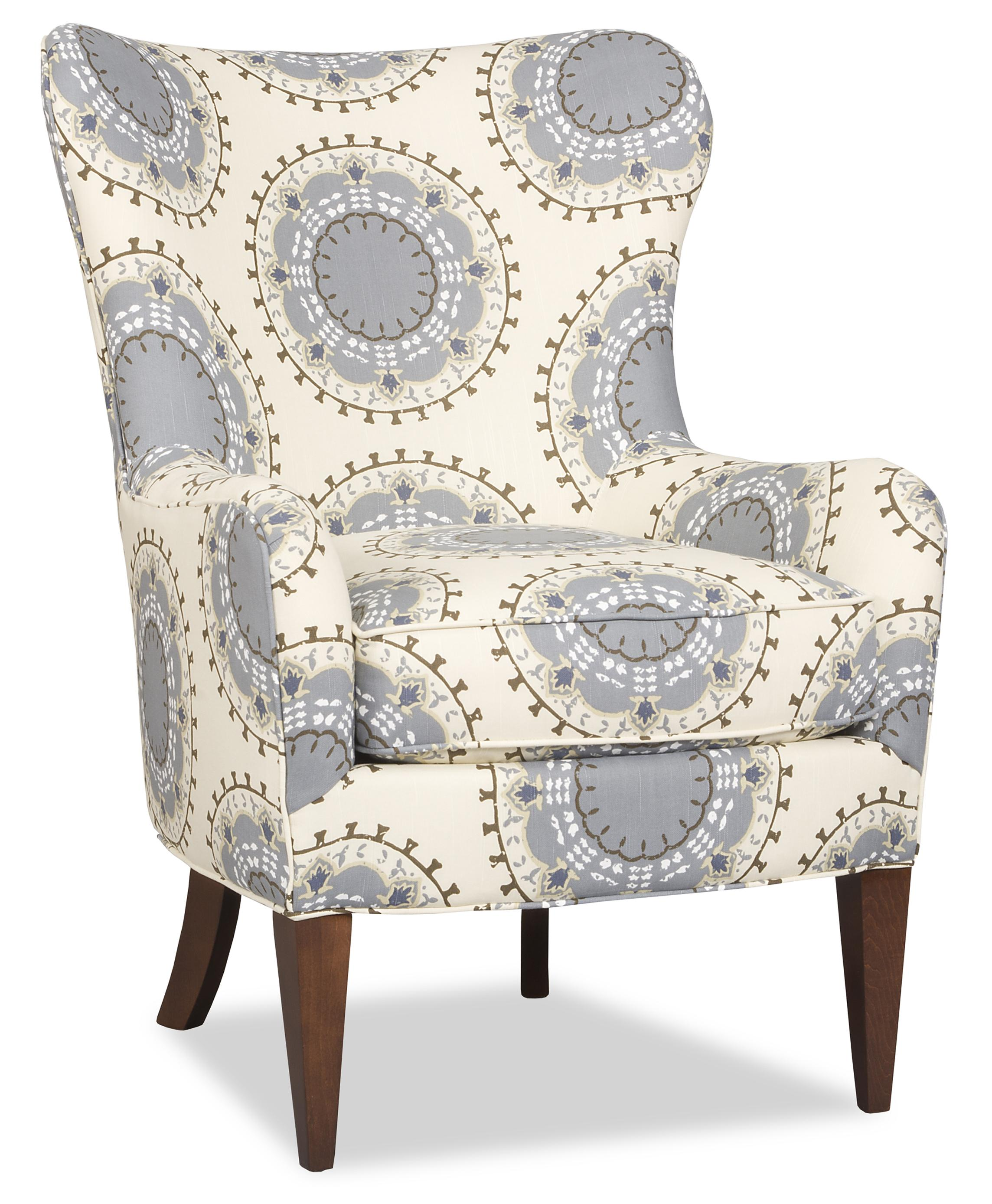 Modern Wing Chair Contemporary Wing Chair With Tapered Wood Legs By Sam Moore Wolf