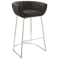 Modern Low Back Bar Stool by Scott Living | Wolf and ...