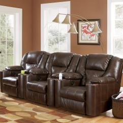 Theater Chairs With Cup Holders Lazy Boy Chair Sale 3 Piece Reclining Home Group By Signature