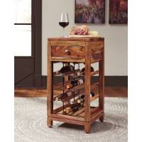 Sheesham Solid Wood Wine Cabinet by Signature Design by ...