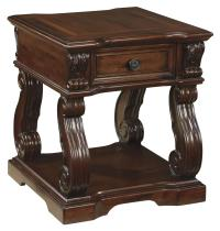 Traditional Square End Table with 1 Drawer & 1 Shelf by ...