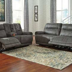 Reclining Sofa With Nailhead Trim 4 Piece Sectional 2 Seat Rolled Arms And By