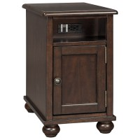 Chair Side End Table with Power Outlets & USB Charging by ...