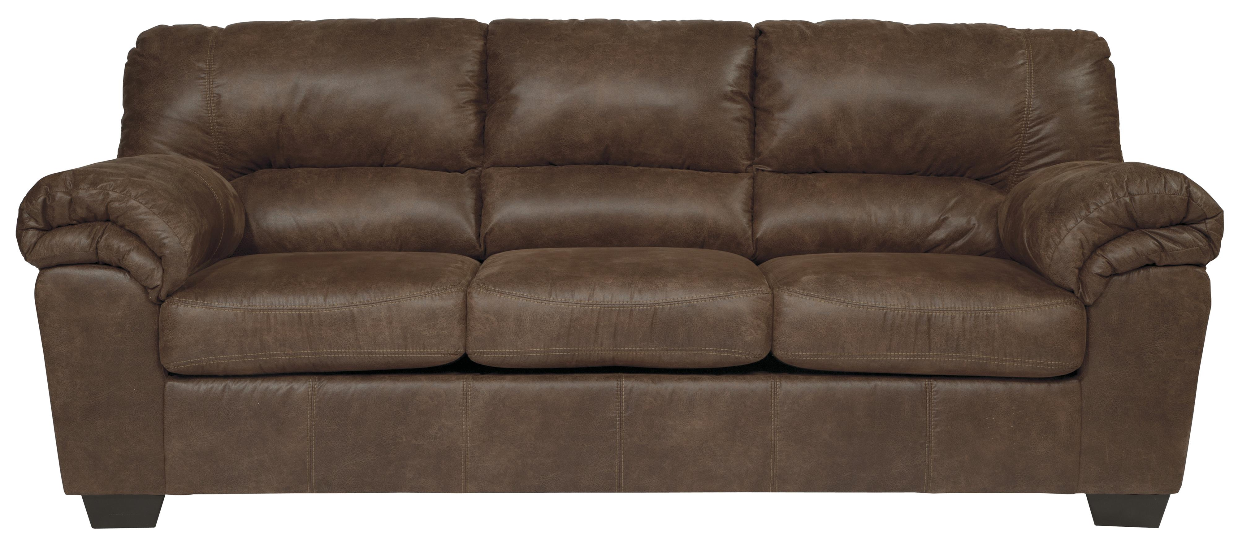 Casual Faux Leather Sofa by Signature Design by Ashley  Wolf Furniture