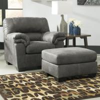 Casual Faux Leather Chair & Ottoman by Signature Design by ...
