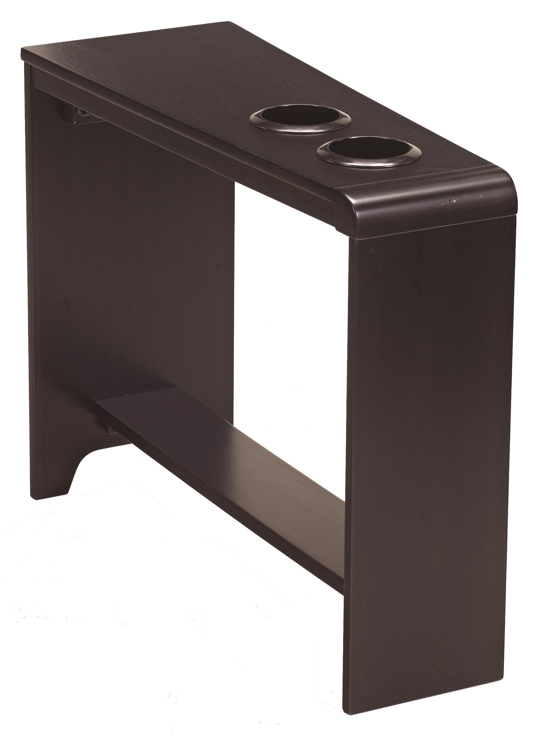 Chair Side End Table with 2 Cup Holders Powerstrip  USB