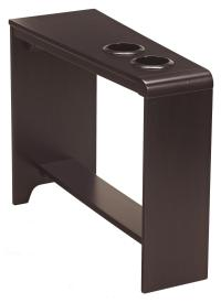 Chair Side End Table with 2 Cup Holders, Powerstrip, & USB