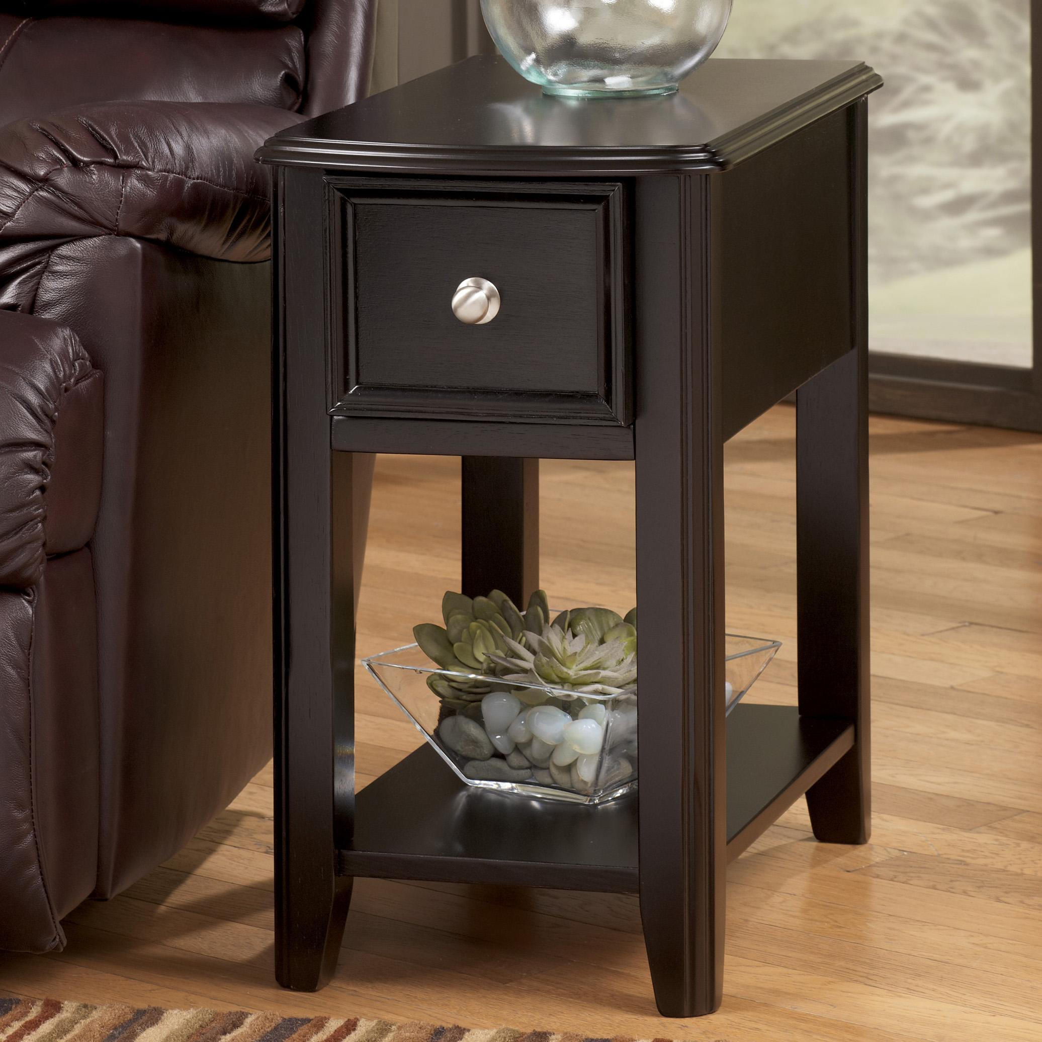 Dark Brown Contemporary Carlyle Chairside End Table By