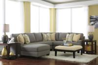 Modern 4-Piece Sectional Sofa with Left Chaise ...