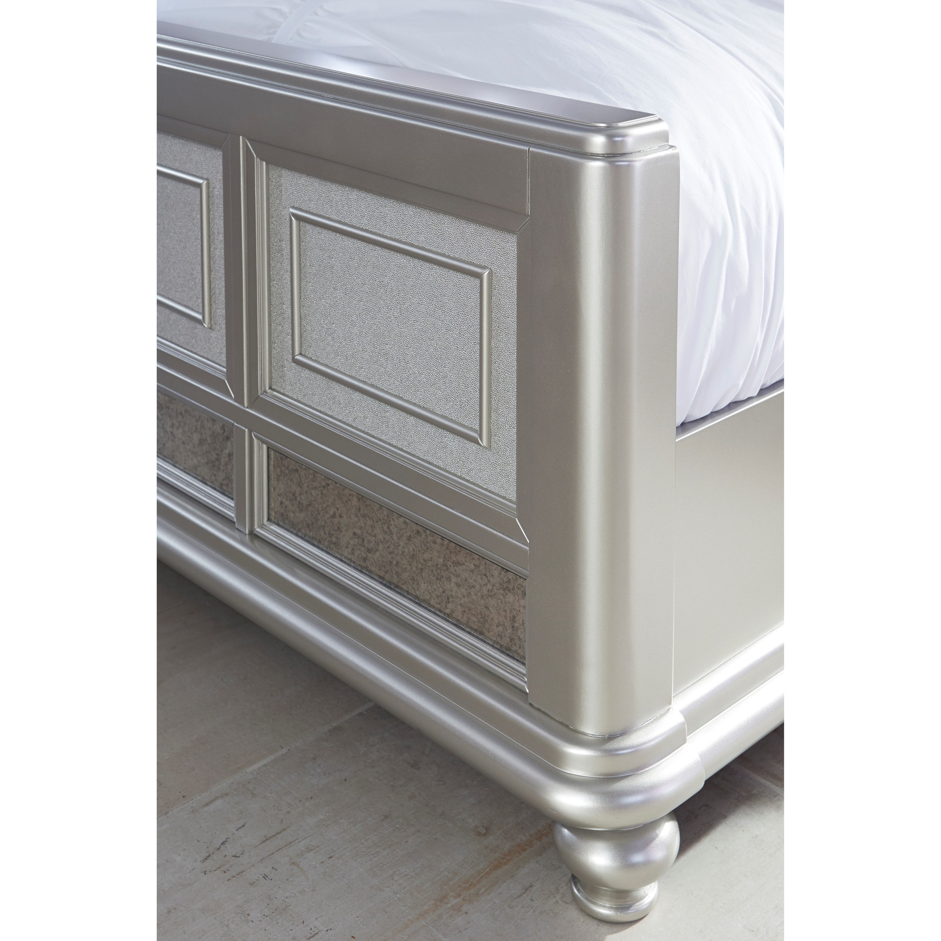 California King Panel Bed With Arched Upholstered
