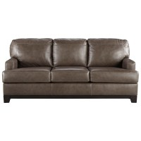 Contemporary Leather Match Sofa by Signature Design by ...