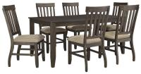 7-Piece Rectangular Dining Table Set by Signature Design ...