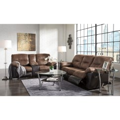 Ashley Faux Leather Sofa Reviews Tylosand Sleeper Cover Two Tone Reclining By Signature Design