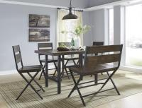 6-Piece Rectangular Dining Room Counter Table w/ Pine ...