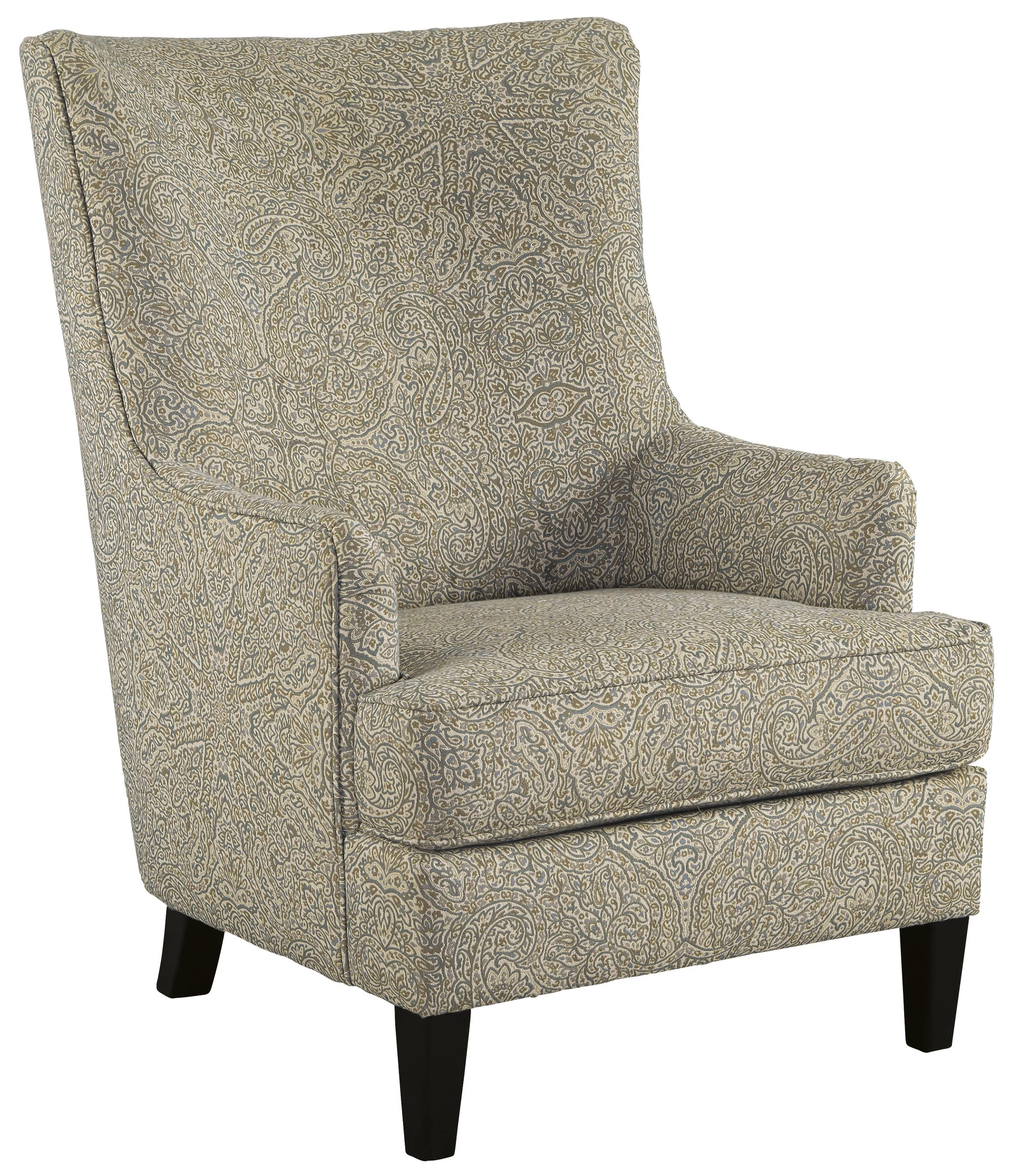 Ashley Chairs Transtional Accent Chair With Wing Back By Signature Design By