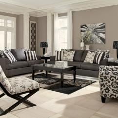 Living Room Sets With Accent Chairs Design Ideas Black Sofa Chair In Floral Print By Signature Ashley Wolf