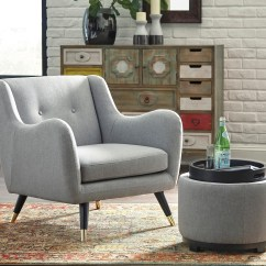 Contemporary Accent Chair Covers Hire Leicester Mid Century Modern Ottoman With Storage Reversible Tray Top