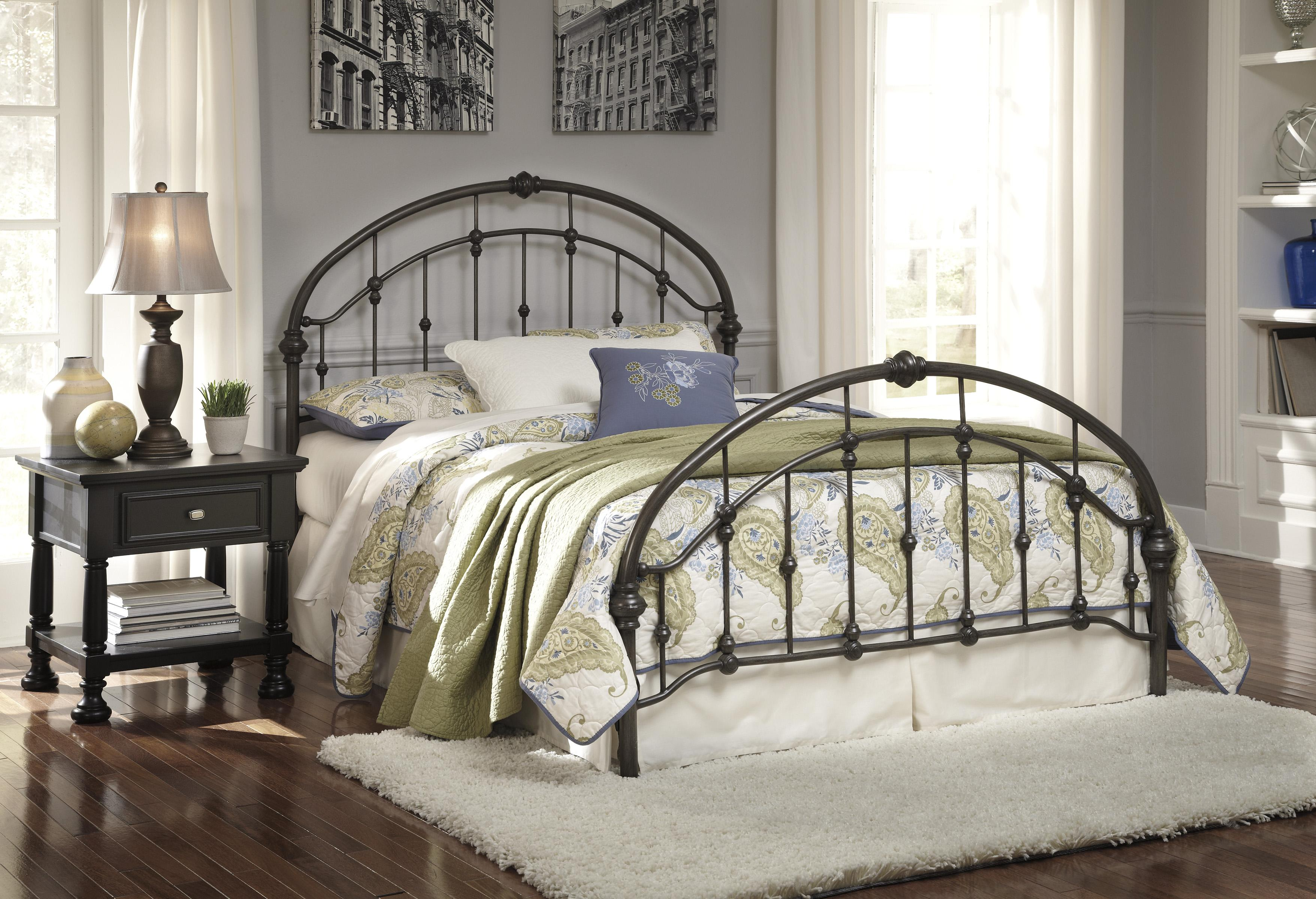 Queen Arched Metal Bed In Bronze Color Finish By Signature