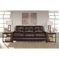 Contemporary Leather Match Queen Sofa Sleeper by Signature ...