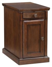 Chairside End Table with Power Outlets & Pull-Out Shelf by ...