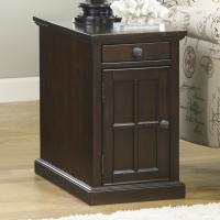 Chair Side End Table with Power Outlets & Pull-Out Shelf ...