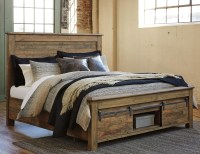 King Panel Storage Bed with Barn Doors by Signature Design ...