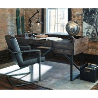 Modern Rustic/Industrial Home Office Desk with Steel Base ...