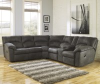 2-Piece Reclining Corner Sectional with Center Console by ...