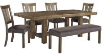 6 Piece Table & Chair Set with Bench by Signature Design