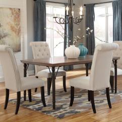 Ashley Furniture Dining Room Chairs Occasional Cheap 5 Piece Rectangular Table Set W Wood Top Metal Legs