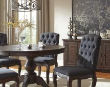 7-piece Oval Dining Table Set With Upholstered Side Chairs