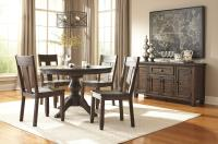 Solid Wood Pine Round Dining Room Pedestal Extension Table ...