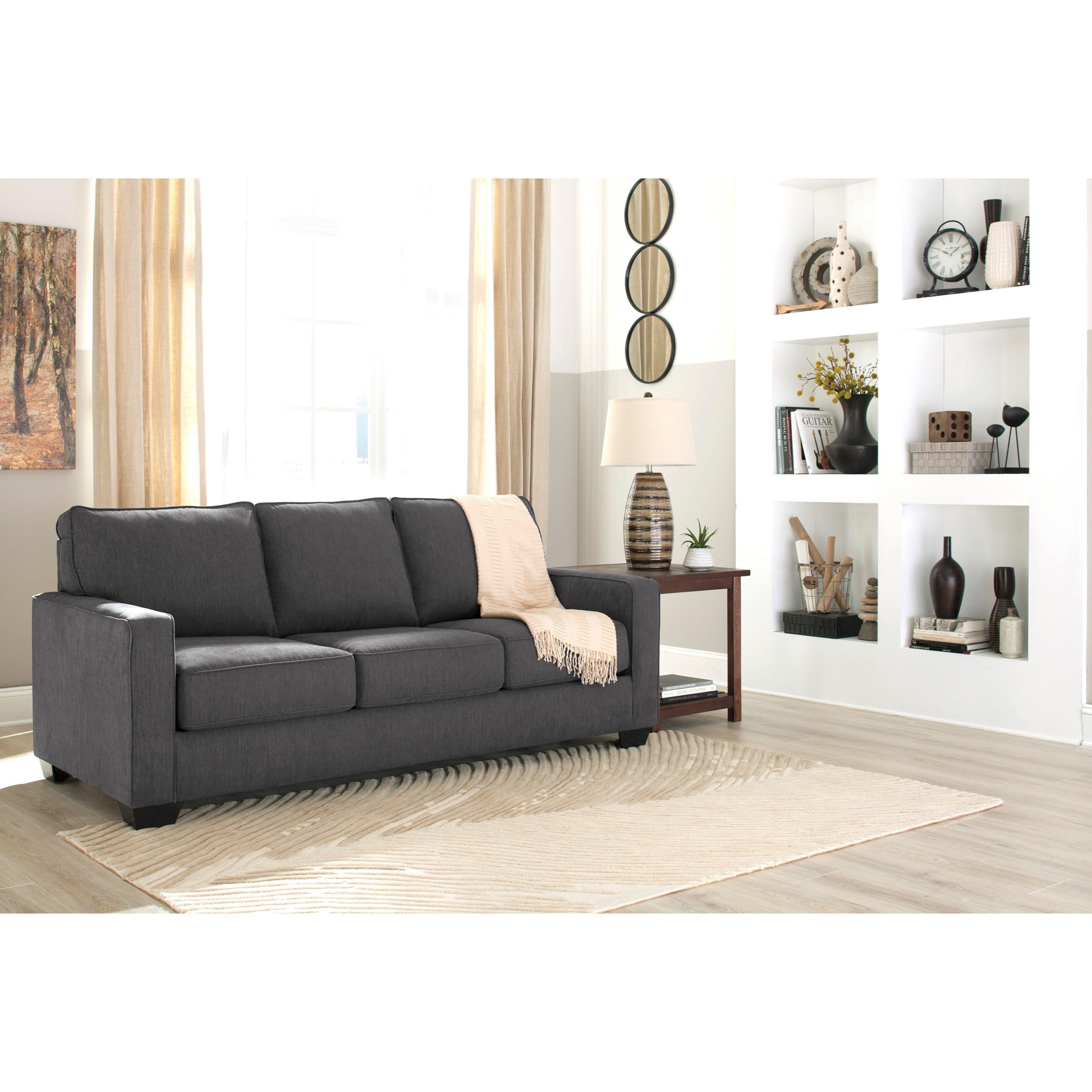 foam sofa sleeper stanton sofas portland oregon queen with memory mattress by signature design