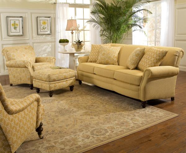 Customizable Upholstered Sofa Smith Brothers Wolf And